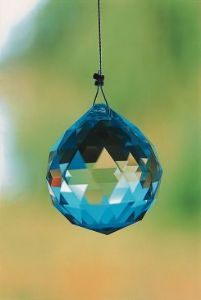 Crystal~Sphere 20 Clear Swarovski Rainbow Hanging Crystal-A stunning array of dancing light